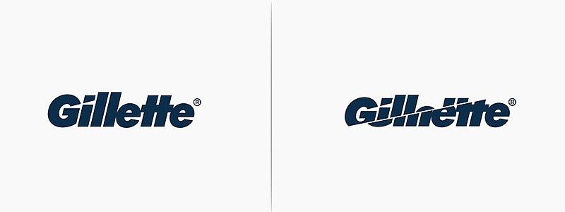 logo gillette revisité