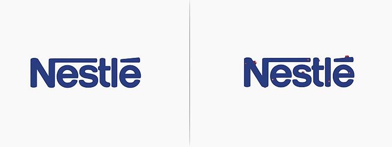 Logo Nestlé revisité