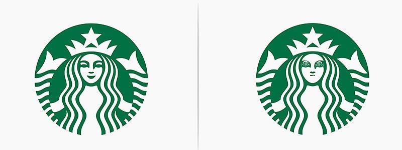 Logo Starbucks revisité